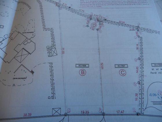 Vente terrain 1373 m2