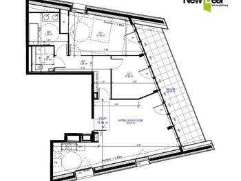 Appartement 3 pièces 75,06 m2