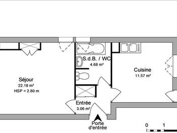 Studio 41,19 m2