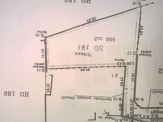 Vente terrain 587 m2
