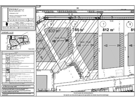 Vente terrain 785 m2