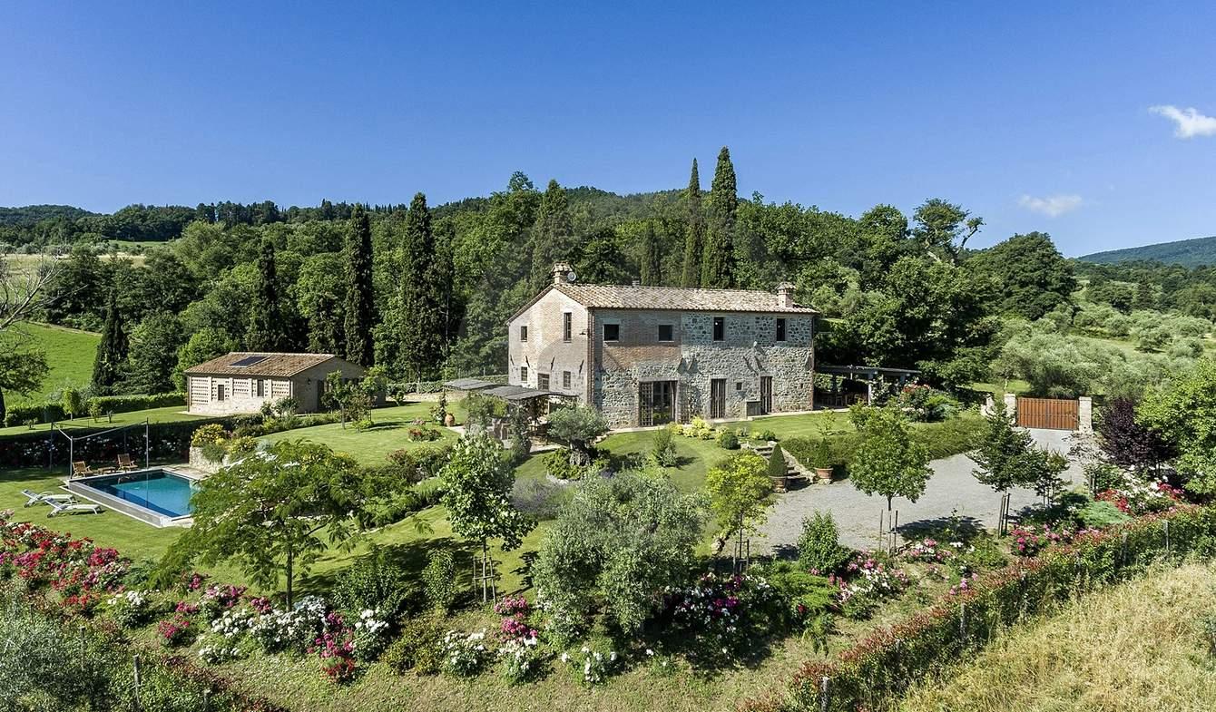 Farm house with garden and pool San Casciano dei Bagni