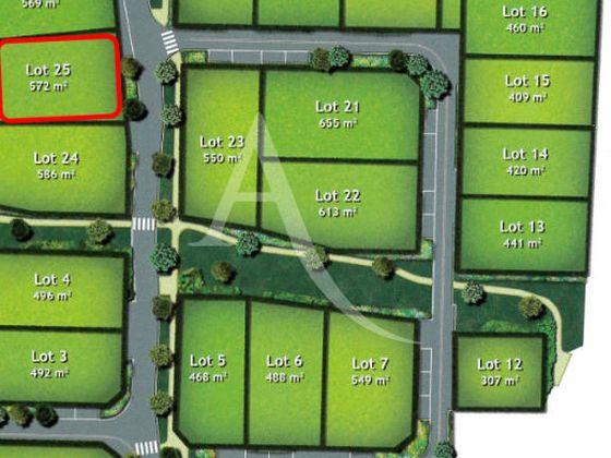 Vente terrain 572 m2