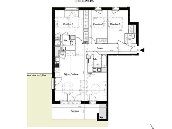 Vente appartement 4 pièces 95,9 m2