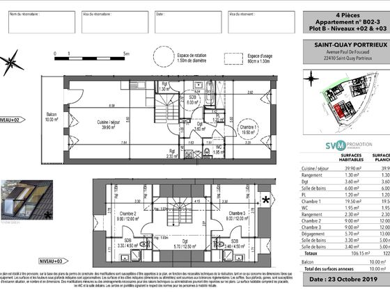 Vente appartement 4 pièces 106,15 m2
