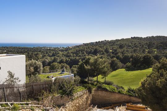 Seaside ground  with panoramic view