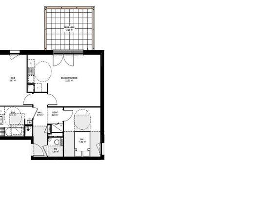 Vente appartement 3 pièces 59,96 m2