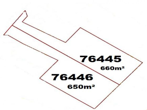 Vente terrain 660 m2