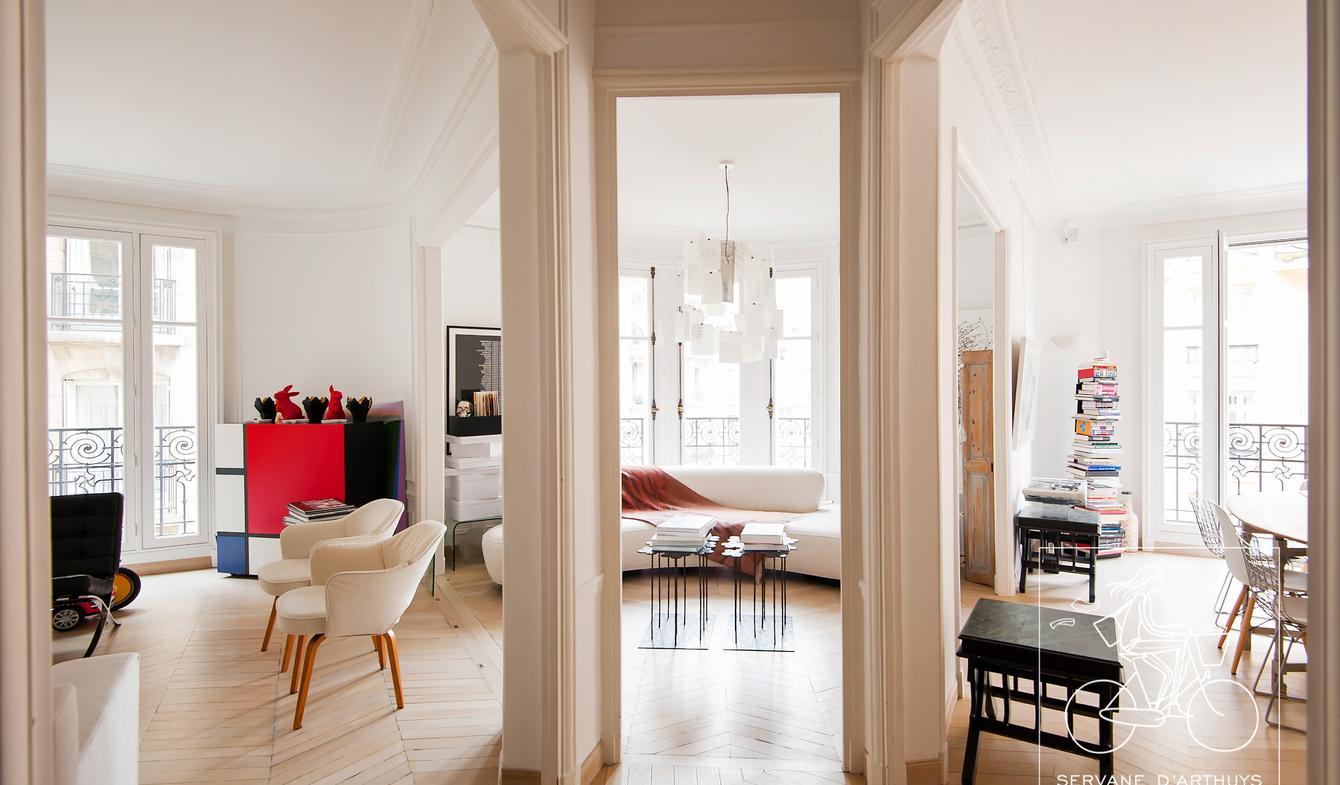 Appartement contemporain Paris 16ème