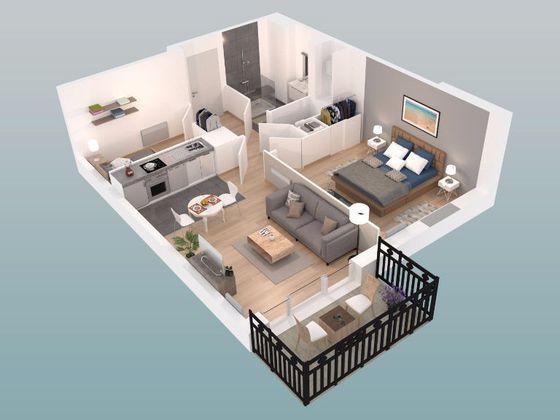 Vente appartement 2 pièces 46,62 m2