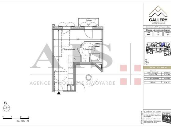 Vente studio 27,32 m2