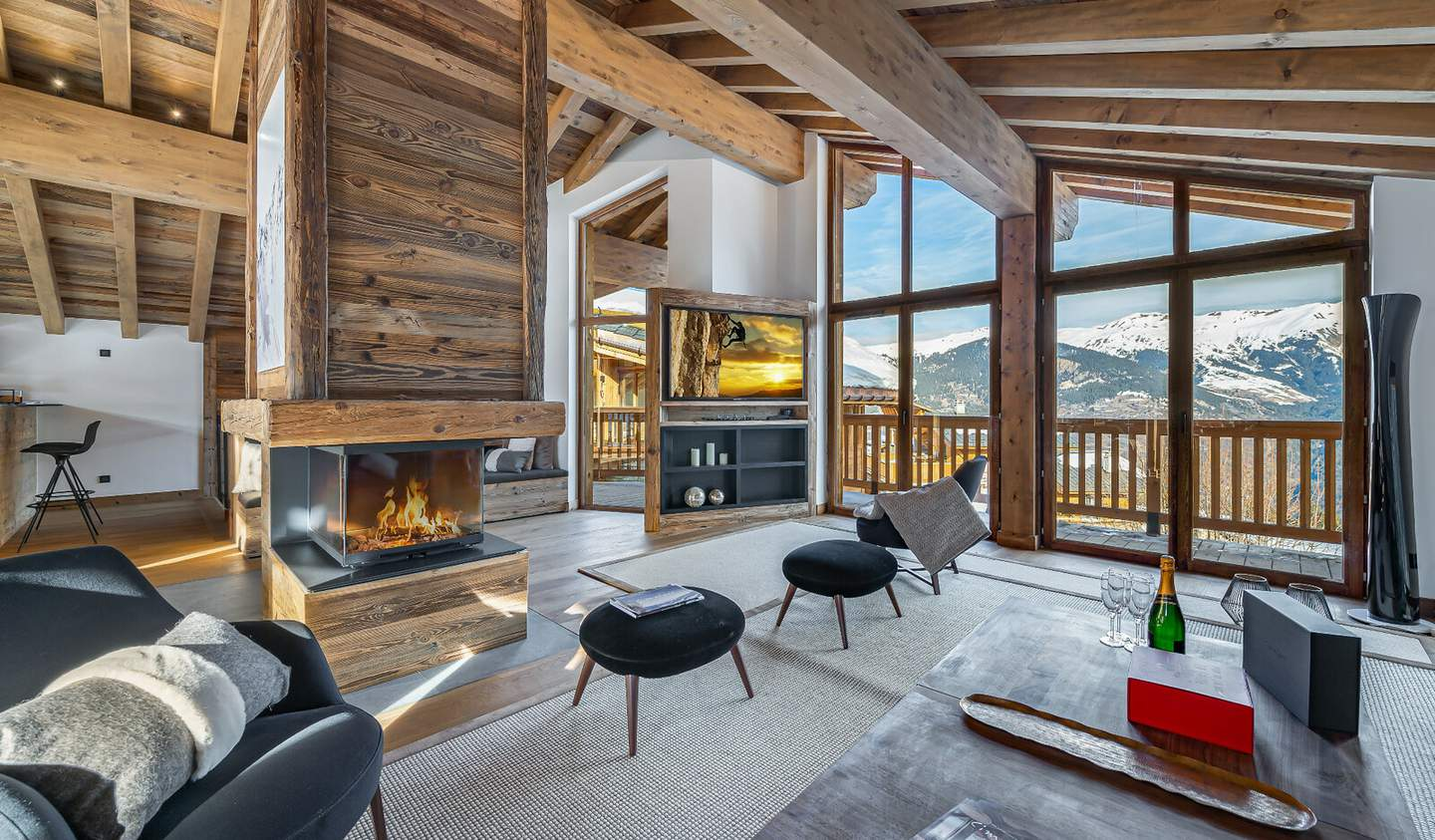 Chalet with panoramic view Courchevel
