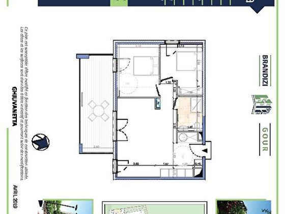 Vente appartement 3 pièces 59,8 m2