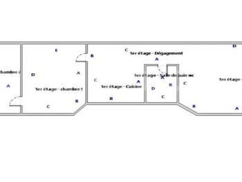 Appartement 3 pièces 44,07 m2