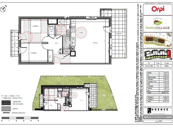 Vente appartement 3 pièces 68,52 m2