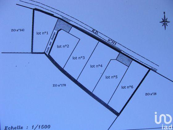 Vente terrain 1226 m2