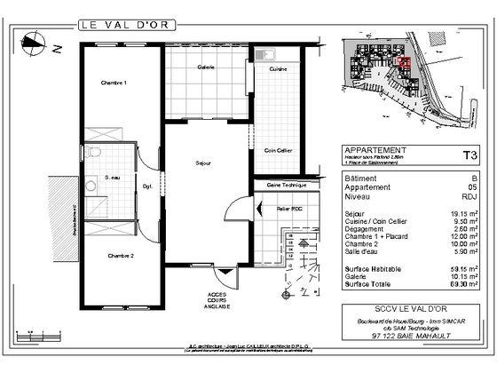 Vente appartement 3 pièces 69,3 m2