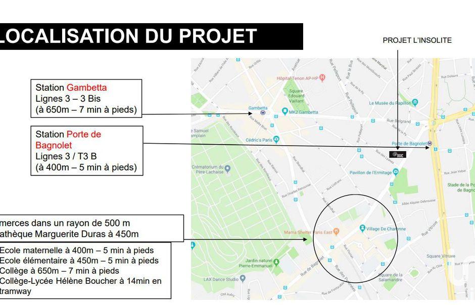 Vente appartement 2 pièces 41 m² à Paris 20ème (75020), 490 000 €
