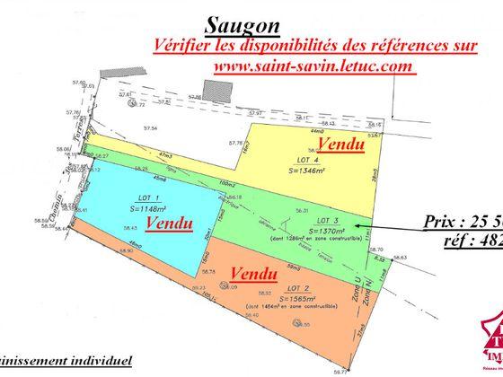 Vente terrain 1370 m2