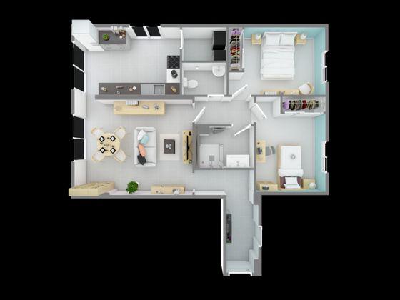 Vente appartement 3 pièces 74,26 m2