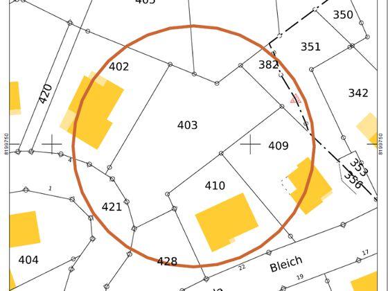 Vente terrain 870 m2