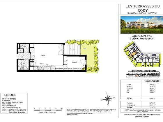 Vente appartement 2 pièces 45,89 m2