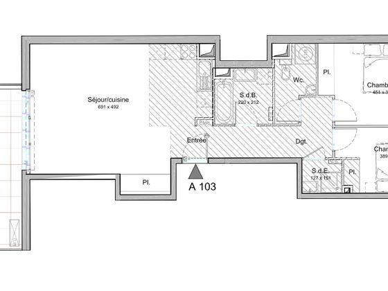 Vente appartement 3 pièces 73,1 m2