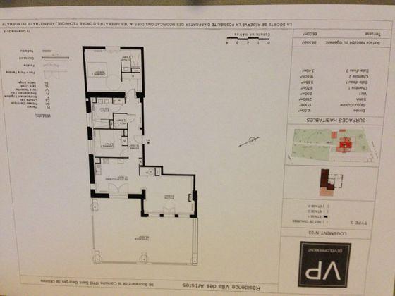 Vente appartement 3 pièces 86,55 m2
