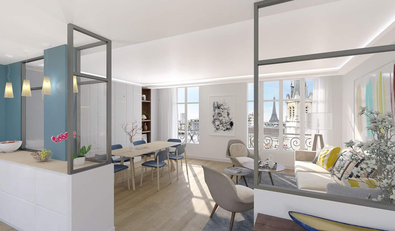 Appartement contemporain Paris 15ème