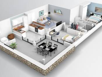 Appartement 3 pièces 64,31 m2