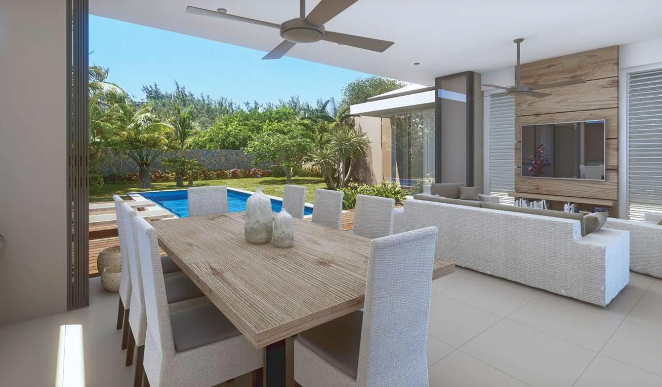 Villa with pool and garden Pereybere