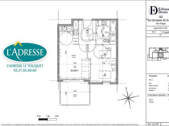 Vente appartement 2 pièces 39,29 m2