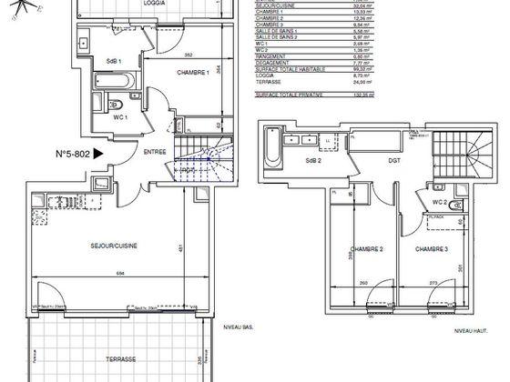 Vente appartement 4 pièces 99,32 m2