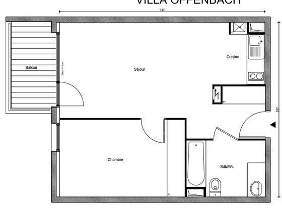 Vente appartement 2 pièces 46,27 m2