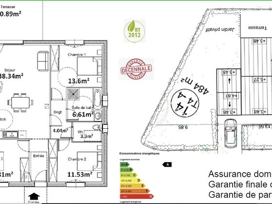 Vente maison 4 pièces 89,23 m2