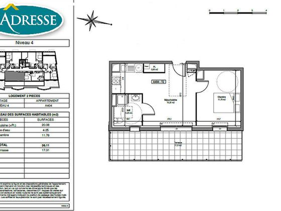 vente Appartement 2 pièces 36,11 m2 Tours