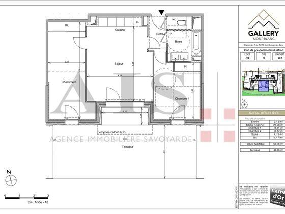 Vente appartement 3 pièces 66,06 m2