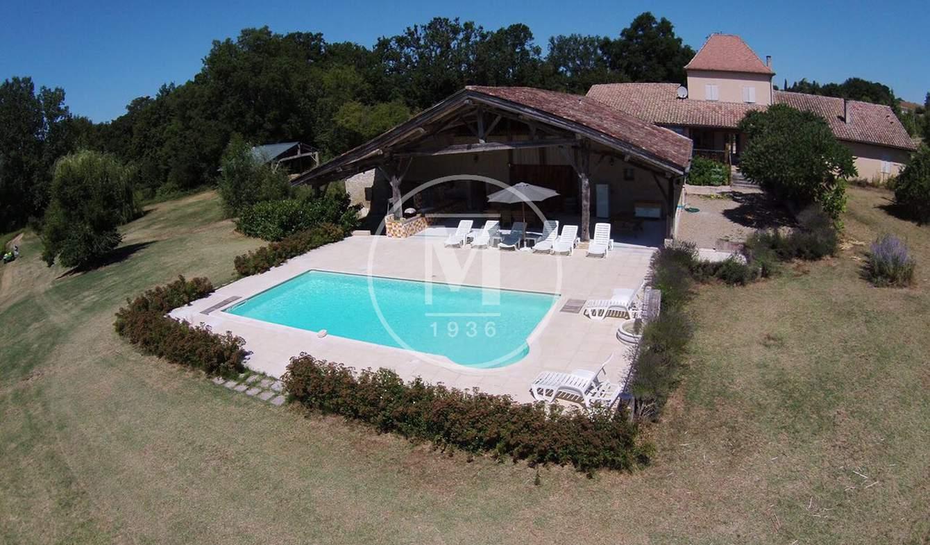 Corps de ferme avec piscine Miramont-de-Guyenne