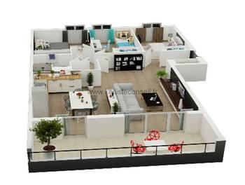Appartement 4 pièces 93,5 m2