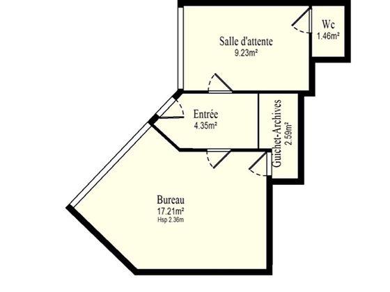 Vente divers 2 pièces 34,84 m2