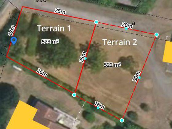 Vente terrain 520 m2