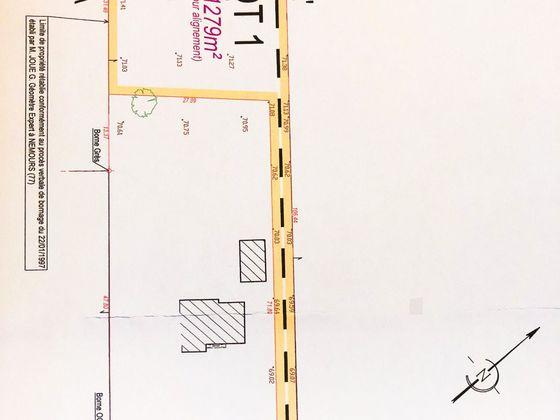 Vente terrain 1279 m2