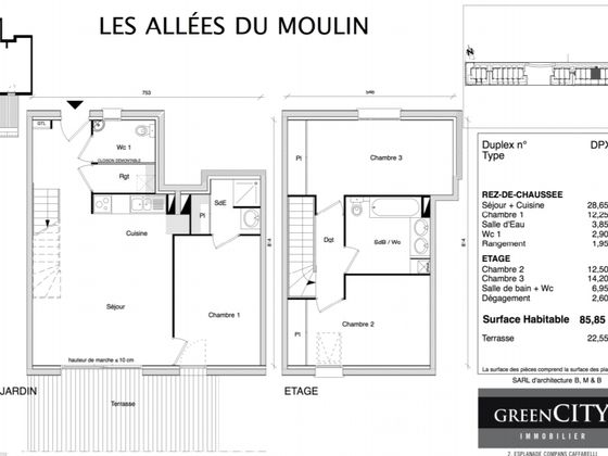 Location appartement 4 pièces 85,85 m2
