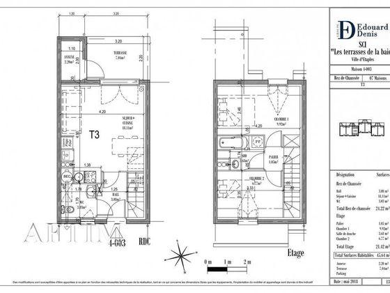 Vente maison 3 pièces 45,64 m2