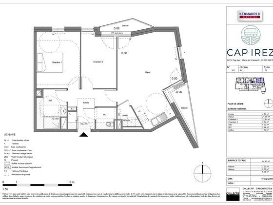 Vente appartement 3 pièces 69,92 m2