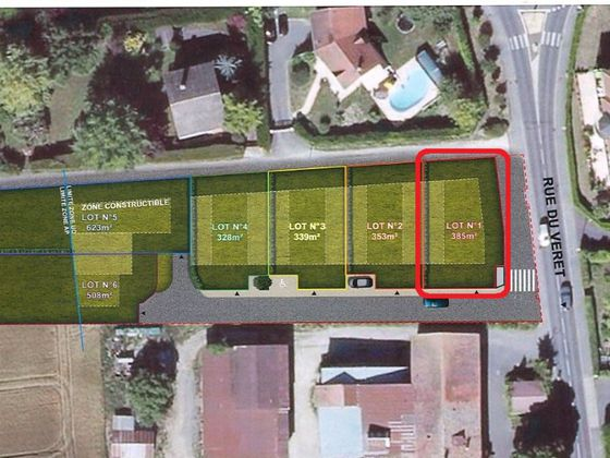 Vente terrain 385 m2
