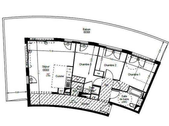 Vente appartement 4 pièces 87,55 m2