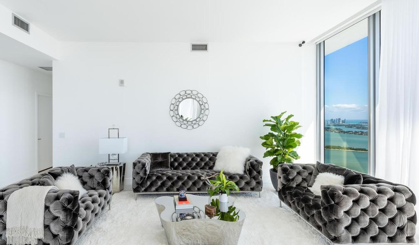 Appartement contemporain avec terrasse et piscine Miami Beach