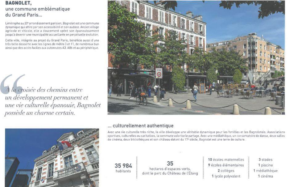 Vente appartement 3 pièces 62.29 m² à Bagnolet (93170), 419 000 €