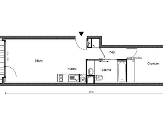 Vente appartement 2 pièces 43,81 m2